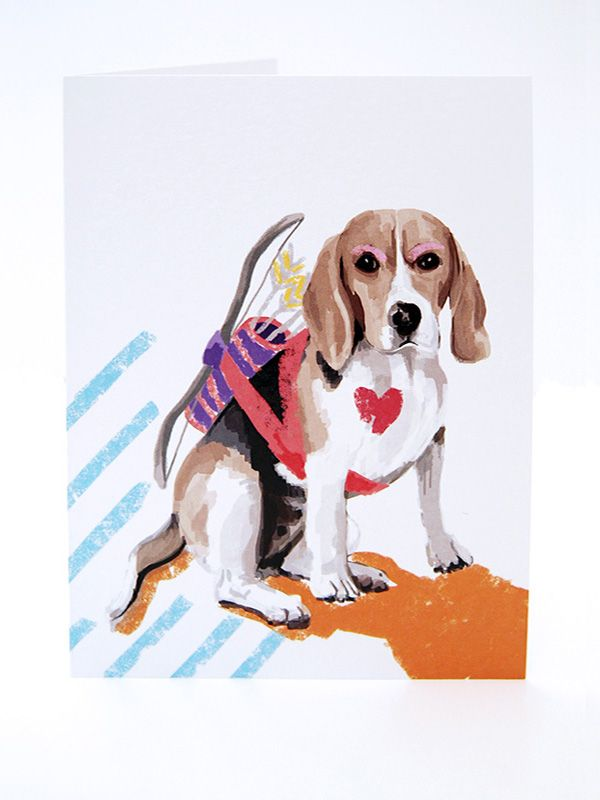 The Pack Dog Greeting Cards 102 P